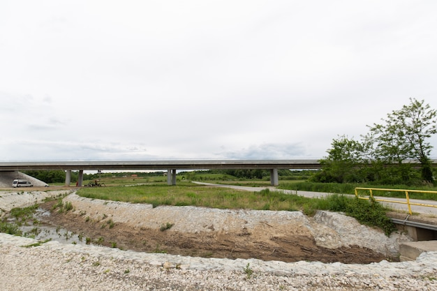 New recently built highway in brcko district, bosnia and herzegovina