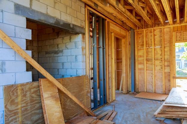 건설 새 집에서 새로운 주거 홈 프레임 인테리어보기