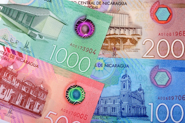 New series of nicaraguan cordobas, a background