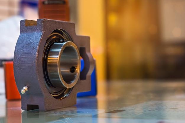 New set of steel ball bearings on glass table preparation maintenance,job industry