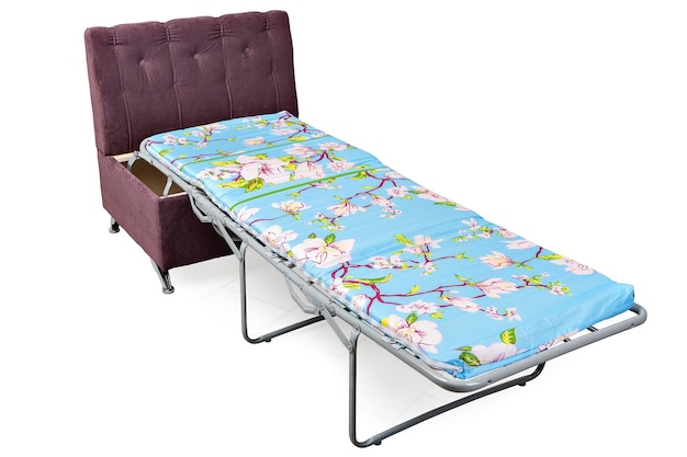 New single sofa bed-chair transform into a single bed pull out armchair isolated