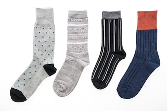 New socks isolated on white