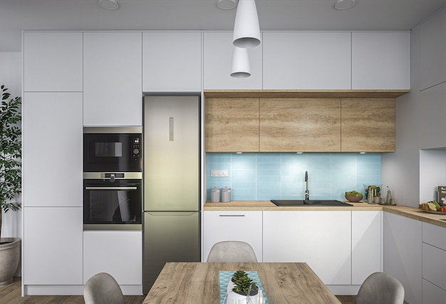 New stylish kitchen