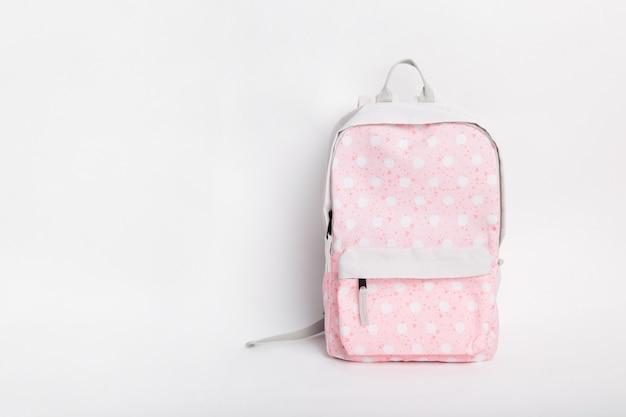 New stylish pink school backpack