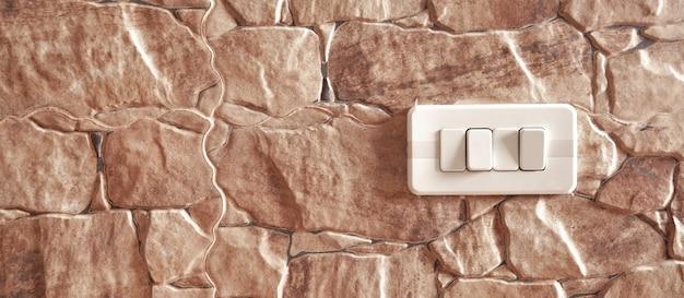 Новый выключатель в стене кухни.