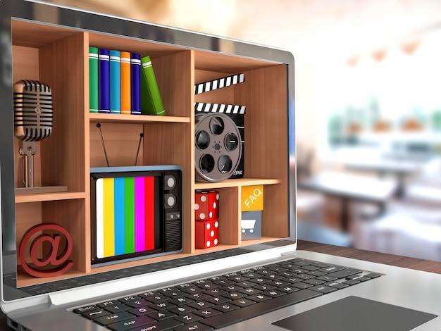 New technologies. laptop. multimedia concept.