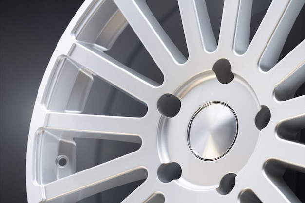 New vehicle rims made from aluminum alloy, multi-spoke silver wheel