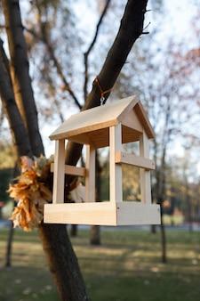 New wooden nesting box