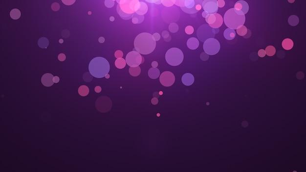 2020年。背景のボケ味。抽象的なライト。メリークリスマスの背景。キラキラ光。デフォーカス粒子。紫とピンクの色