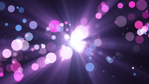 New year 2020. bokeh background. lights abstract. merry christmas backdrop. glitter light. defocused particles. violet and pink colors. rays in center