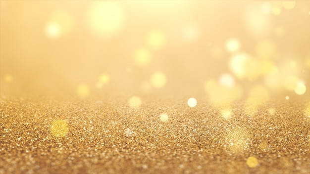 New year 2020. bokeh background. lights abstract. merry christmas backdrop. gold glitter light. defocused particles. golden color