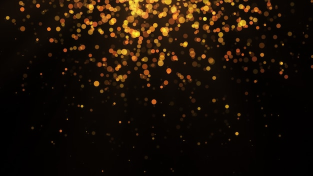 New year 2020. bokeh background. lights abstract. merry christmas backdrop. gold glitter light. defocused particles. isolated on black. overlay. golden color,top