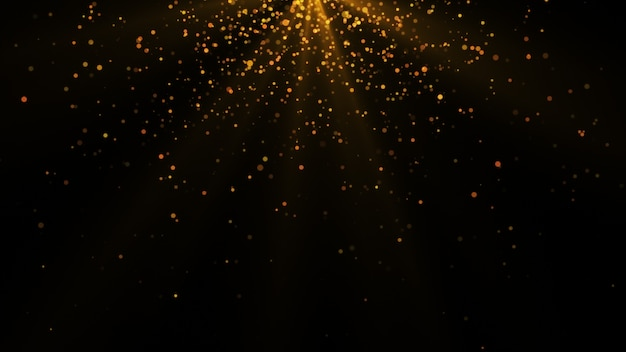 New year 2020. bokeh background. lights abstract. merry christmas backdrop. gold glitter light. defocused particles. isolated on black. overlay. golden color