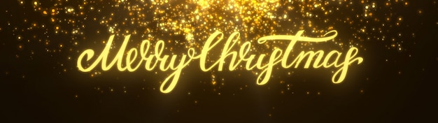 New year 2020. bokeh background. lights abstract. merry christmas backdrop. gold glitter light. defocused particles. xmas lettering. golden color. panoramic view