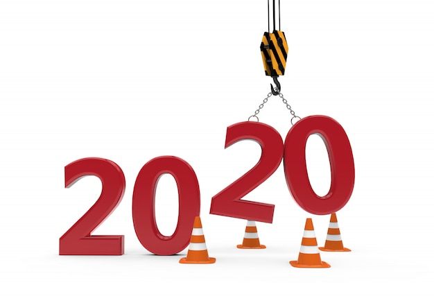 New year 2020 under construction