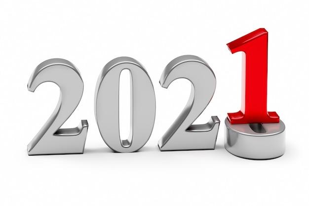 Концепция праздника новый год 2021. число 2021 находится в 0