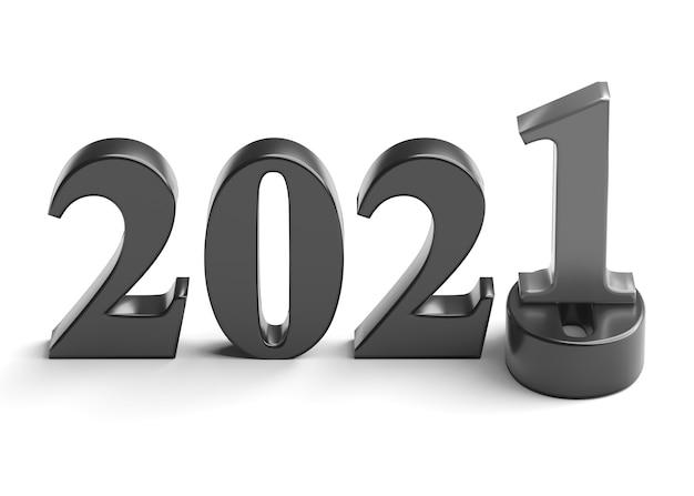 新年2021年の休日の概念。 2021年の数字は2020年にあります