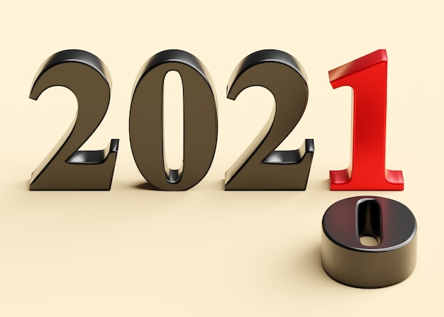 The new year 2021 replaces the old 2020