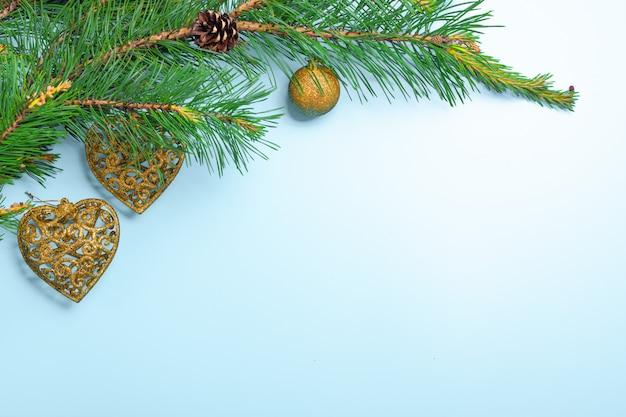 新年とクリスマスの背景。デコレーション。ノエルのお祭りの背景