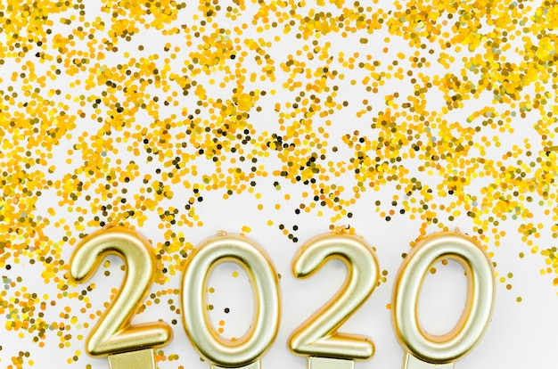 New year celebration 2020 and golden glitter