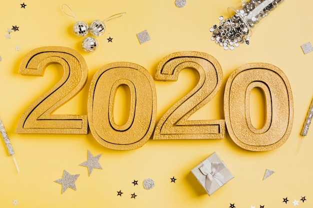 New year celebration 2020 and silver accessories