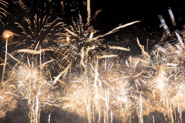 新年のお祝い花火