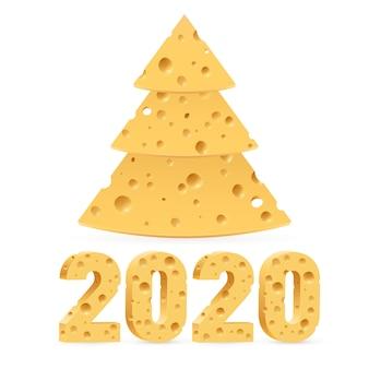 New year cheese tree
