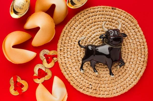 Новый год китайский 2021 черный бык