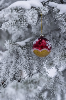 New year and christmas background, snow fairytaile, winter holiday