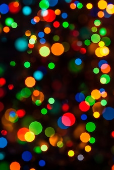 New year and christmas bokeh background for holiday design