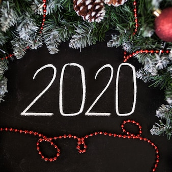 New year and christmas greeting card. new year's
