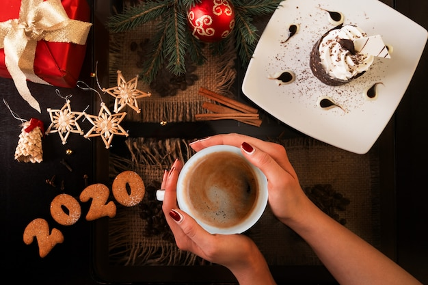 New year coffee time