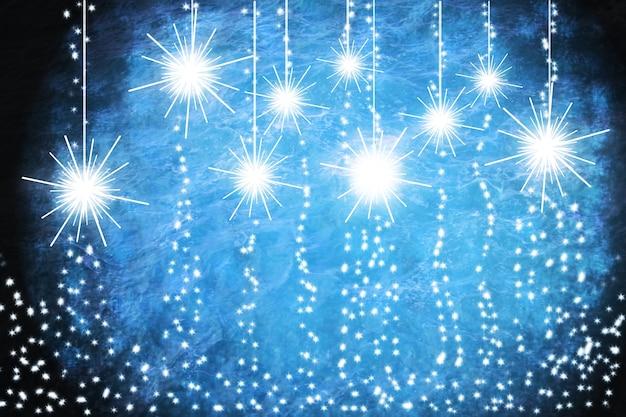 Новогодние гирлянды на синем фоне иллюстрации