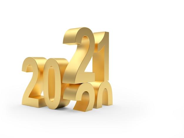 Новогодние золотые числа с 2020 на 2021 год