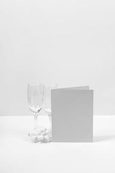 Mock-up di capodanno con vetro