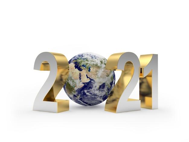 Число нового года и планета земля