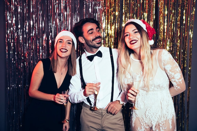 New year party concept with young friends