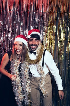 New year party with party couple