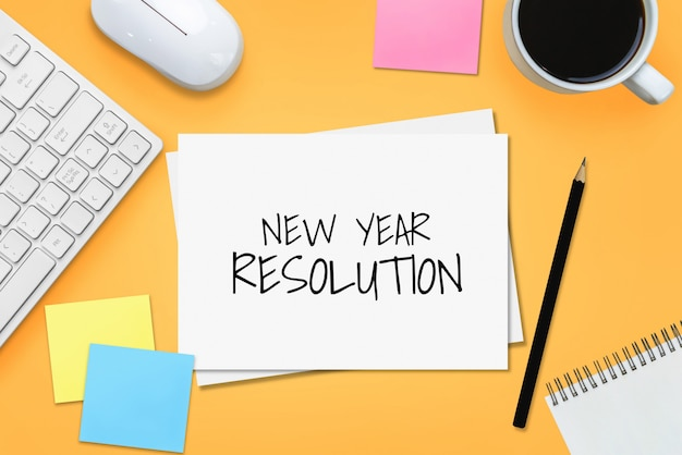 New year resolution goal list 2020 target setting