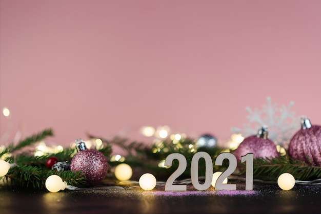 New year's 2021 or christmas background