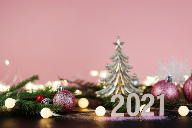 New year's or christmas background