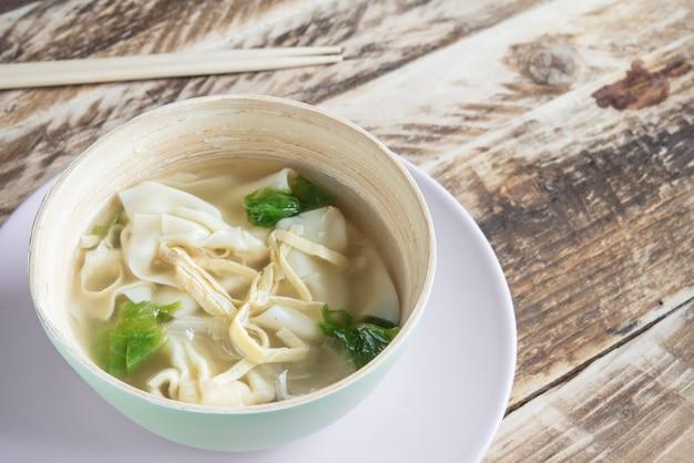 설날 만두 수프
