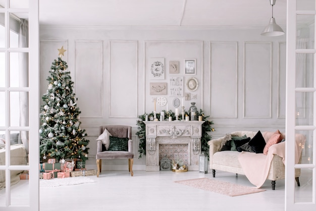 New year's interior and christmas jewelry