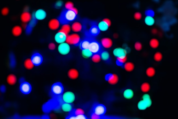 New year's lights in blur