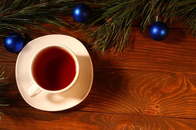 Новогодний чай, сосна