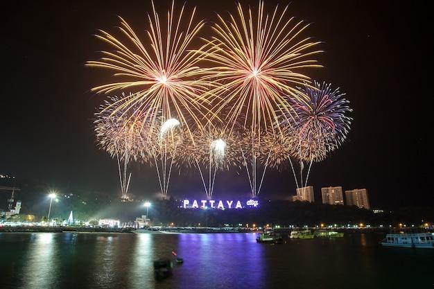 New year salute in pattaya thailand