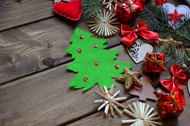 New years or christmas banner poster background zero waste winter concept