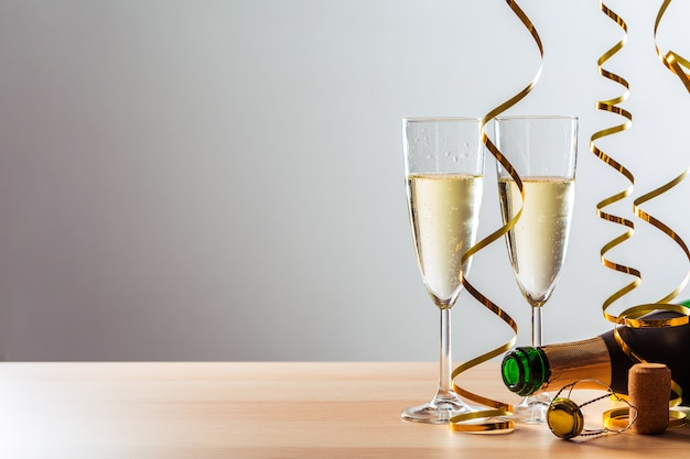New years eve celebration with champagne