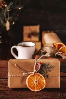 Новогодний подарок из экологически чистых материалов