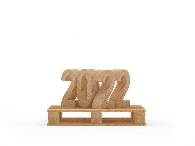Номер нового года на деревянном поддоне